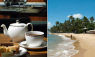 English tea and a Brazilian beach