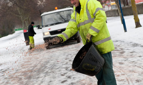 SALT IS USED TO DE-ICE ROADS: MELTING POINT