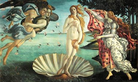 The original Botticelli Birth of Venus