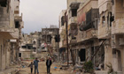 Homs houses damaged by the government army