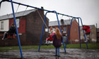Children in playground in Manchester