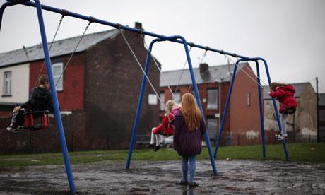 Children in playground in Manchester
