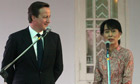 David Cameron and Aung San Suu Kyi