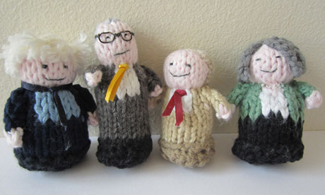 Knitted london mayoral candidates
