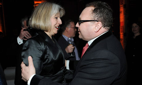Theresa May attends showbusiness agent Jonathan Shalit's 50th birthday party at the V&A in London