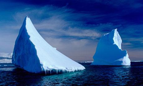 ice bergs in antarctica