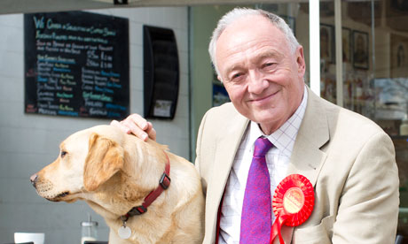 Ken Livingstone with his dog Cocoa