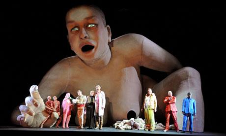 A scene from Ligeti's Le Grand Macabre at ENO