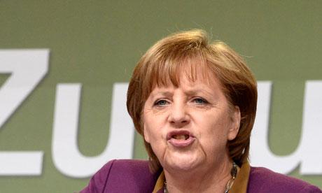 A chanceler Angela Merkel