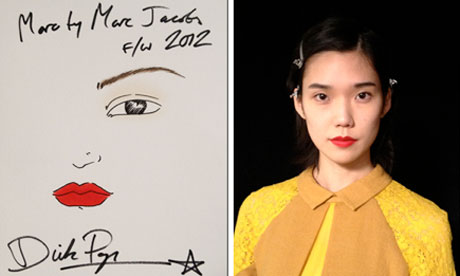The Shiseido look created for Marc by Marc Jacobs A/W 2012