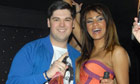 Alex Hope in London's 55 Club with Layla Flaherty of TV show Desperate Scousewives