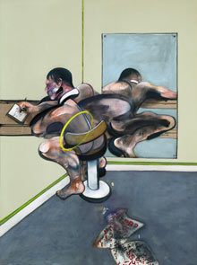 Francis Bacons Figure Wri 001 Francis Bacon painting, Figure Writing Reflected in Mirror, in Sothebys sale