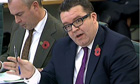Labour MP Tom Watson asking questions to James Murdoch during s select committee hearing