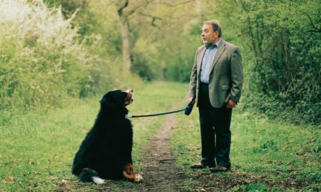 lord hanningfield with his dog