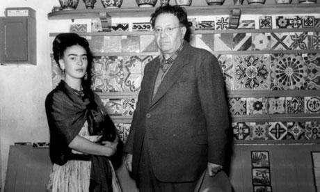 Frida Kahlo and Diego Rivera at the Bowes Museum