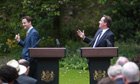 Prime minister David Cameron and his deputy Nick Clegg