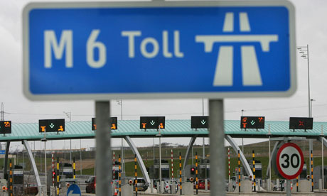 GBR: Vehicles On The M6 Toll Road