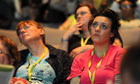Delegates listen to health secretary Andrew Lansley at the RCN congress in Harrogate