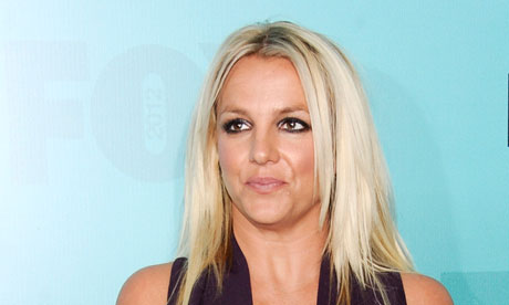 Britney Spears: professional scene stealer. Photograph: AP