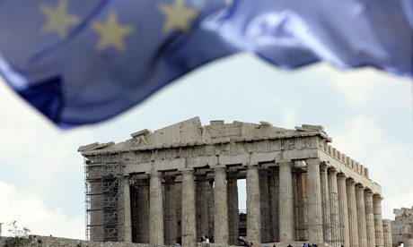 Greece Euro Flag