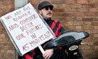 Demonstrators Picket Atos Healthcare