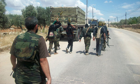 Members of the Free Syrian Army near Idlib