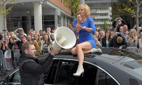 Geri Halliwell arrives in Liverpool for the X Factor auditions, May 2012