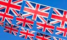 Bunting representing the union flag