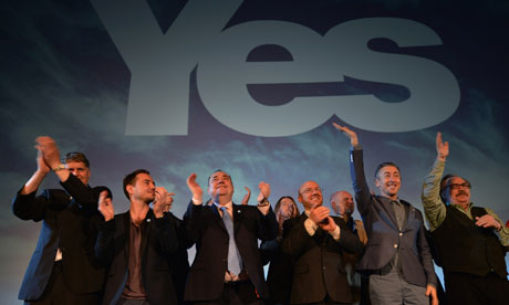 Scottish Politicians Launch Their Yes To Devolution Campaign