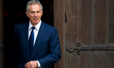 Tony Blair leaves the Leveson Inquiry