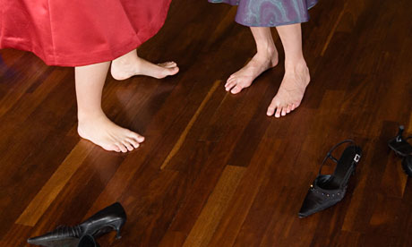 Dancers with barefeet
