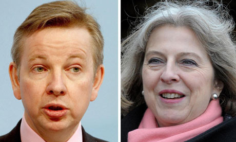 Education secretary Michael Gove and Home Secretary  Theresa May