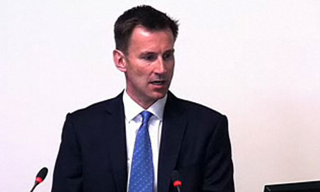 Jeremy Hunt leveson