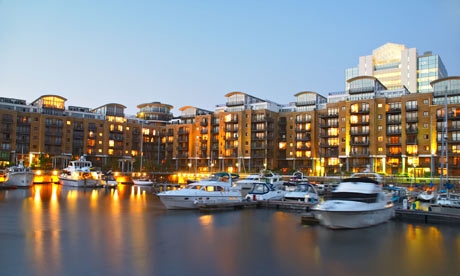 St Katherines Dock in London England