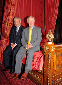 John Bercow and Henry Winkler