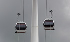 London's cable car prepares for the Olympics