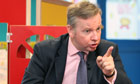 Michael Gove has been silenced but not rebuked for comments on the Leveson inquiry