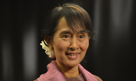 Burmese Opposition Leader Aung San Suu Kyi visits the UK