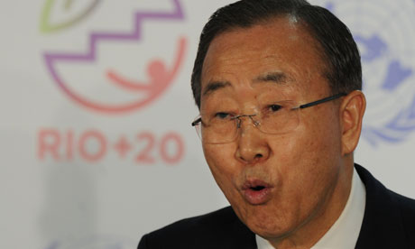UN Secretary General Ban Ki-moon at the Rio+20 Earth summit