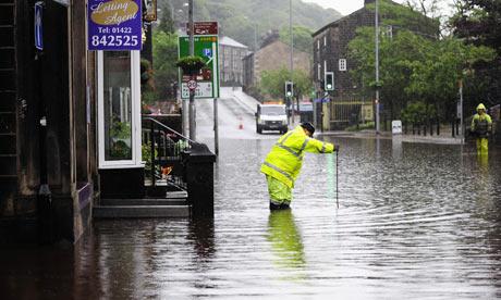 Floods hit northern England