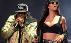 Jay-Z and special guest Rihanna performs at the BBC's Hackney Weekend in east London.
