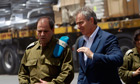 Man of action … Blair near the Gaza Strip as Middle East envoy in 2010.