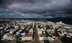 Reykjavik Under Dark Clouds