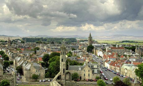 The town of St Andrew's in Scotland