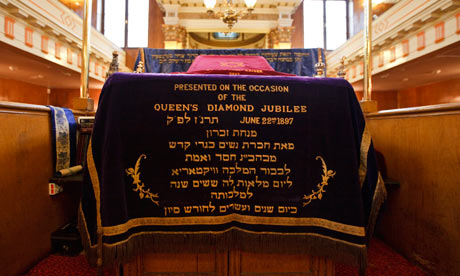 embroidered bimah cover for Queen Victoria's diamond jubilee in spitalfields