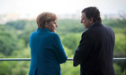 Merkel speaks with Barroso