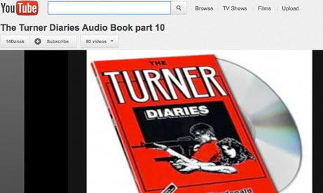 Neo-Nazi videos on YouTube made money from ads and promoted the Turner Diaries