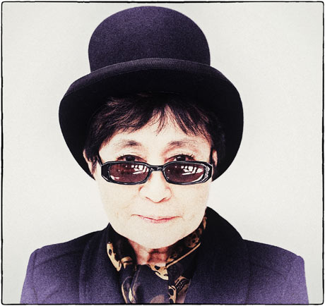 Yoko Ono in New York City, February 2012