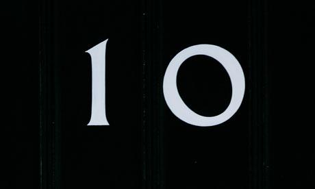 door of 10 downing street