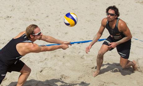 German beach volleyball Olympic team members Erdmann and Matysik